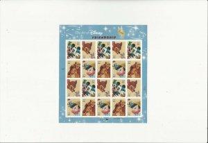 US Stamps/Postage/Sheet Sc #3868a Disney Friendship MNH F-VF OG FV 7.40