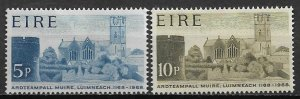 1968 Ireland 244-5  St. Mary's Calhedral founding 800th Anniv. C/S of 2 MH