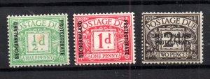 Bechuanaland 1926 Postage Due mint set D1-D3 WS17263