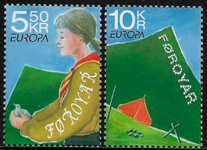 Faroe Is #485-6 MNH Complete Set - Europa - Girl Guides