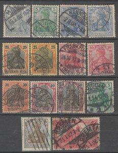 COLLECTION LOT # 4295 GERMANY 14 STAMPS 1900+ CV+$21