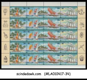 COCOS KEELING ISLANDS - 1987 SAILING SHIPS / YACHT Miniature sheet MNH