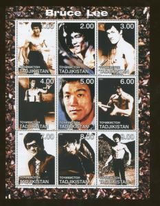 Tajikistan Commemorative Souvenir Stamp Sheet - Martial Artist Bruce Lee