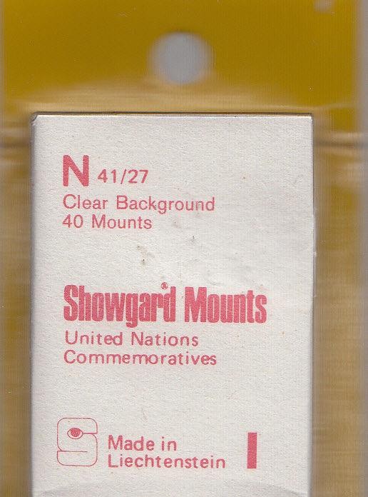 SHOWGARD CLEAR MOUNTS N 40/27 (40) RETAIL PRICE $3.95