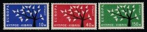 Cyprus, Sc 219-221 (SG 224-226), MLH