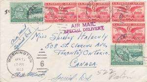 Airmail Issues 6c Alexandria, Virginia (4) with 3c Washington Territory (2) ...