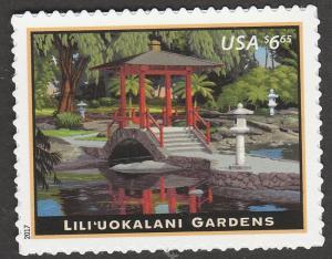 US 5156 Priority Mail Lili'uokalani Gardens $6.65 single (1 stamp) MNH 2017