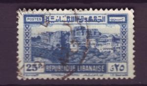 J324 jl,s stamps 1945 lebanon view used scn 179 4.00 sv
