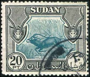 British Sudan SC# 113 Nile Lechwe 20p Used