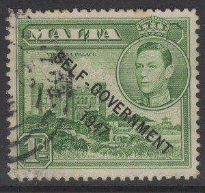MALTA SG236 1948 1d GREEN USED