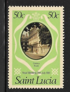 St Lucia Mint Never Hinged [6821]