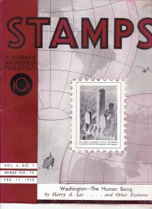 Stamps Weekly Magazine of Philately February 17, 1934 Stamp Collecting Magazine