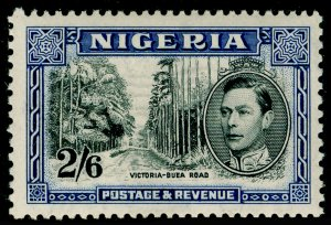 NIGERIA SG58, 2s 6d black & blue, VLH MINT. Cat £60.