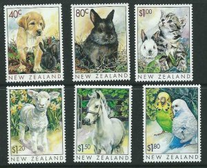 NEW ZEALAND SG2232/7 1999 POPULAR PETS MNH
