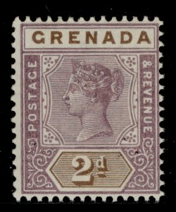 GRENADA QV SG50, 2d mauve and brown, NH MINT. Cat £40.