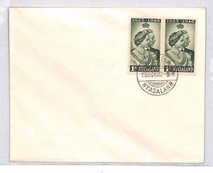 NYASALAND Cover *Zomba* George VI Silver Wedding 1948  BN287
