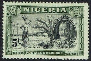 NIGERIA 1936 KGV OIL PALMS 5/-