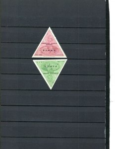 JASTAMPS: US 1956 FIPEX 5th Int'l Philatelic Exhibition Triangle Stamps OG MNH