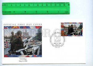 242066 MARSHALL ISLANDS WWII V-E Day 1995 year FDC