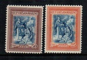 San Marino  C52 - C53 MH  cat $ 4.00