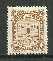 1919 New Zealand OY16  1½d Life Insurance MH