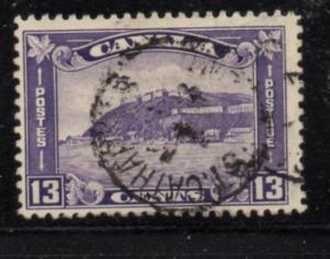 Canada Sc 201 1932 13c violet Quebec Citadel stamp used