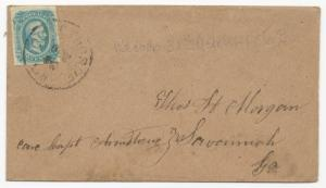 CSA Scott #12a Tied to Cover by Ogelthorpe, GA CDS Oct 1863 Milky Blue Opaline