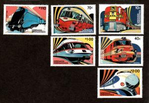 Grenada Grenadines 509-514 Mint NH MNH Trains!