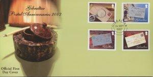 Gibraltar 1084-7 FDC cover postal history (2110 162)