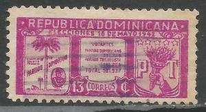 DOMINICAN REPUBLIC 395 VFU Z1382-3