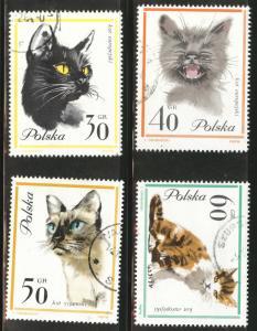 Poland Scott 1216-19 Used CTO cat stamps