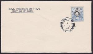JAMAICA 1956 cover posted on Federation Day - IRISH TOWN cds................7464
