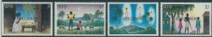 78435a  -  NEVIS  - STAMP:  XMAS Religion 4 values MNH - Overprinted SPECIMEN