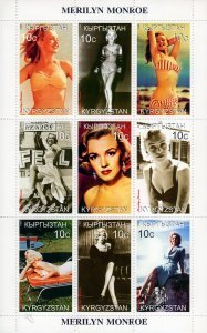 Kyrgyzstan 1999 MARILYN MONROE Sheet Perforated Mint (NH)