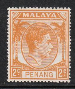 Malaya Penang 1949 Sc 4 KGVI 2c MH