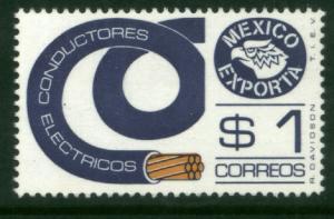 MEXICO Exporta 1114 $1P Electr mats. Unwmk Fosfo Paper 4 MNH
