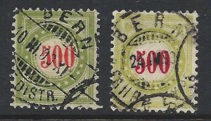 Switzerland J28 and J28a Used Great Color.  Tough This Nice!! CV $400