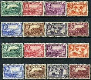 MONTSERRAT 1938 KGVI 1938 Part set SG101 to SG108 Mounted Mint