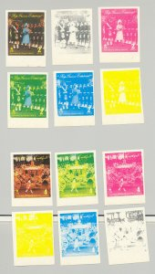 Equatorial Guinea #7849-7856 Queen Elizabeth 8v Imperf x 6v Progressive Proofs
