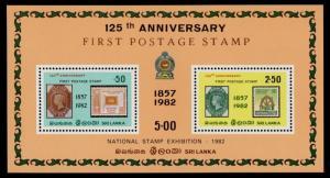 Sri Lanka 652a MNH Stamp on Stamp