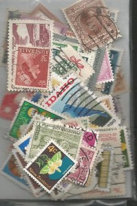 World Wide 100 stamps, all different