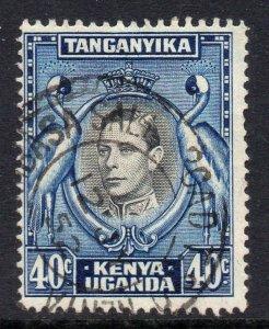 KUT 1938 KGVI 40c black & blue SG 143 used