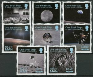 Isle of Man IOM 2019 MNH One Small Step Moon Landing 8v Set Space Stamps