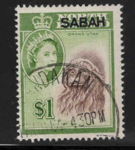 Malaysa Sabah overprint on North Borneo Scott 13 Used