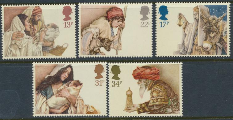 GB SG 1267 - 1271  SC# 1089-1092 Mint Never Hinged - Christmas 1984