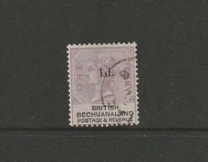 Bechuanaland 1888 QV Opts 1d on 1d FU SG 22