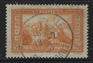 Monaco 1935 3.50F Orange Royal Palace Sc# 127 used