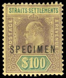 Straits Settlements Scott 104As Gibbons 122s Specimen