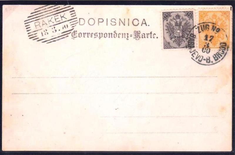 AUSTRIA BOSNIA  1900. new currency 1/2 kreuzer   ZUG   ..see description