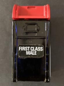 Avon First Class Male Glass Mailbox Bottle ~ Bravo Aftershave 4 FL OZ ~ Empty
